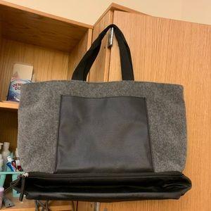 Like new DSW grey black felt tote
